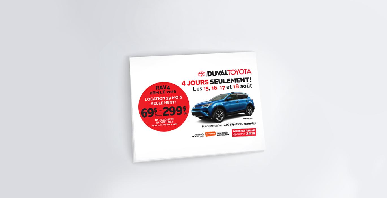 Envoi postal –Duval Toyota - Empreinte Studio