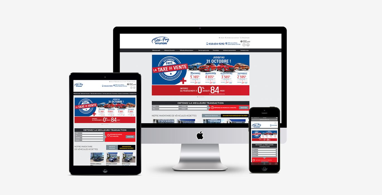 Site Web – Ste-Foy Hyundai - Empreinte Studio
