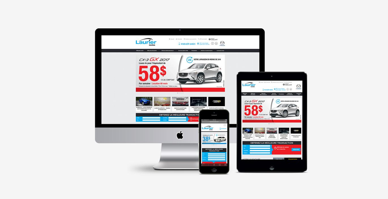 Site Web – Laurier Mazda - Empreinte Studio