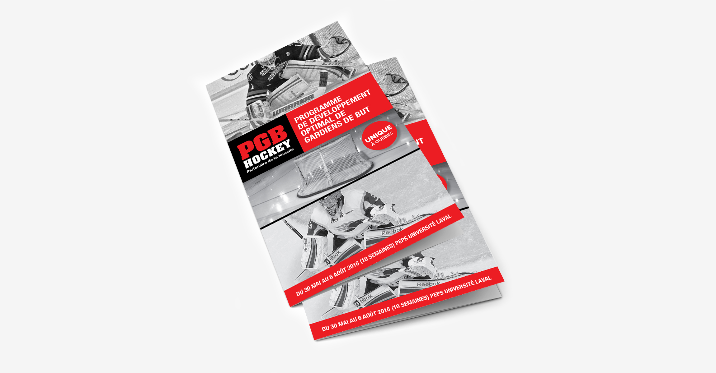 Feuillet – PGB Hockey - Empreinte Studio