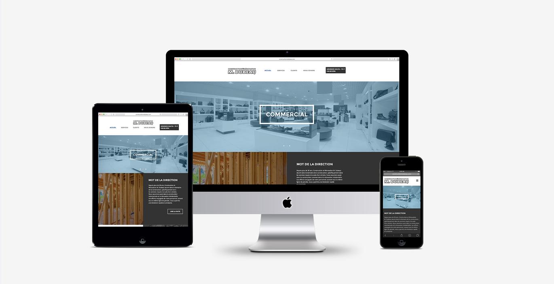 Site Web – Dubeau construction - Empreinte Studio